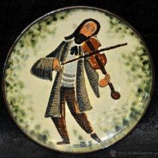 Antigüedades: PLATO EN CERÁMICA VIDRIADA DE VILA CLARA (LA BISBAL) GIRONA.. Lote 40281821