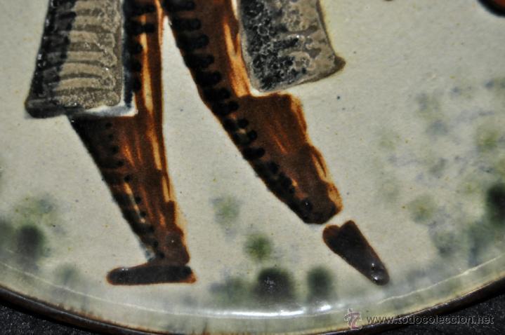Antigüedades: PLATO EN CERÁMICA VIDRIADA DE VILA CLARA (LA BISBAL) GIRONA. - Foto 3 - 40281821
