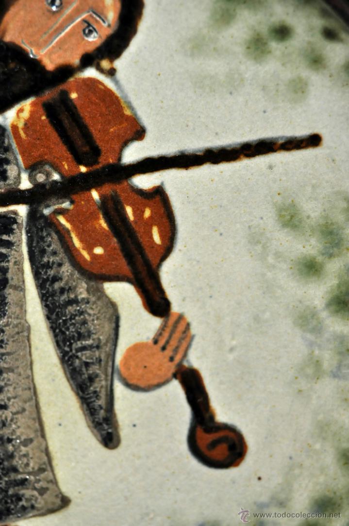 Antigüedades: PLATO EN CERÁMICA VIDRIADA DE VILA CLARA (LA BISBAL) GIRONA. - Foto 5 - 40281821