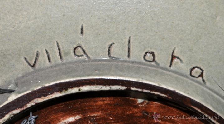Antigüedades: PLATO EN CERÁMICA VIDRIADA DE VILA CLARA (LA BISBAL) GIRONA. - Foto 8 - 40281821
