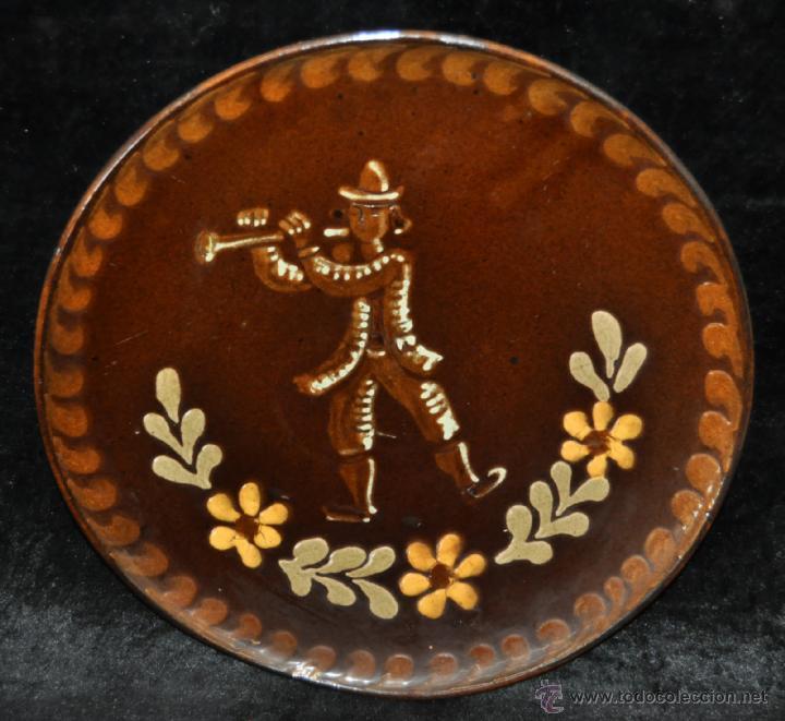 PLATO EN CERÁMICA VIDRIADA DE VILA CLARA (LA BISBAL) GIRONA (Antigüedades - Porcelanas y Cerámicas - La Bisbal)