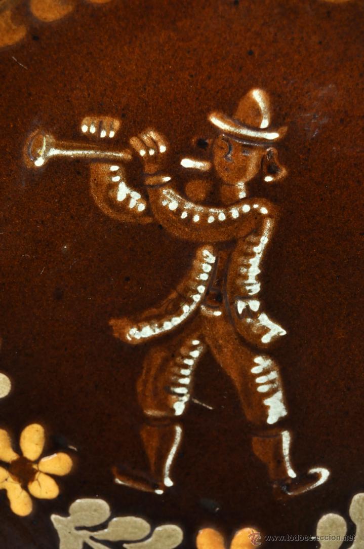 Antigüedades: PLATO EN CERÁMICA VIDRIADA DE VILA CLARA (LA BISBAL) GIRONA - Foto 3 - 40281928