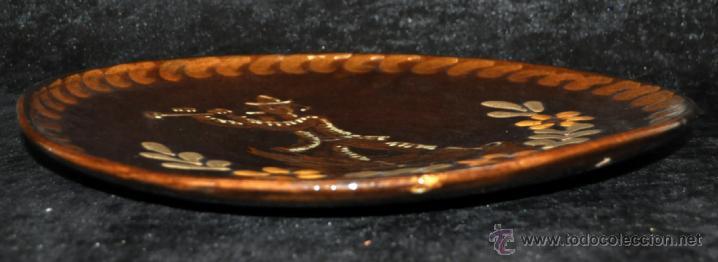Antigüedades: PLATO EN CERÁMICA VIDRIADA DE VILA CLARA (LA BISBAL) GIRONA - Foto 5 - 40281928