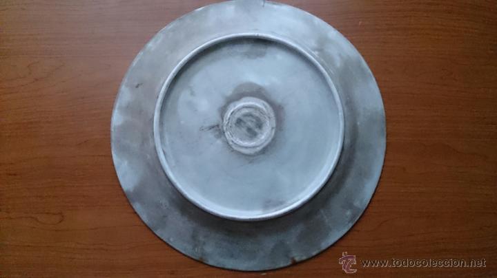 Antigüedades: Antiguo y curioso plato masonico de cristo y calavera de adán al pie de la cruz, Siglo XIX . - Foto 10 - 220413450