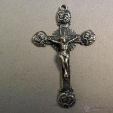 Antigüedades: ANTIGUO CRUCIFIJO DE PLATA DE COLGAR.. Lote 46674284