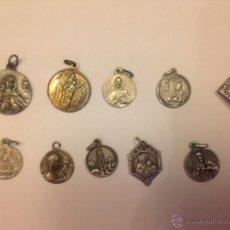 Antigüedades: 10 BONITAS Y ANTIGUAS MEDALLAS RELIGIOSAS DESCONOCIDAS. Lote 40304076
