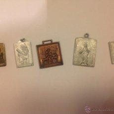 Antigüedades: LOTE DE 5 MEDALLAS RELIGIOSAS ANTIGUAS . Lote 40304389