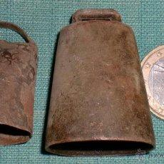 Antigüedades: 2 CENCERROS PEQUEÑOS.. Lote 40327503