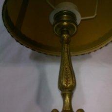 Antigüedades: PEQUEÑA LAMPARA DE SOBREMESA EN BRONCE.32X20CM. Lote 40330255