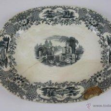 Antigüedades: BANDEJA DE LOZA ESMALTADA ESTAMPILLADA PICKMANN, FIN S. XIX. Lote 40335123