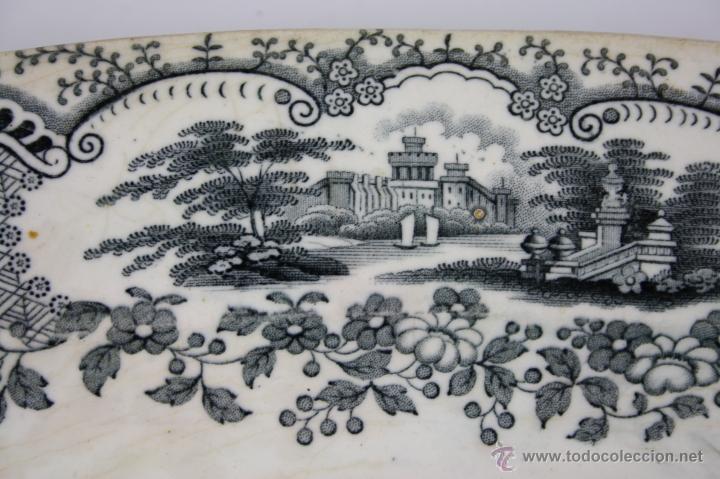 Antigüedades: BANDEJA DE LOZA ESMALTADA ESTAMPILLADA PICKMANN, FIN S. XIX - Foto 4 - 40335123
