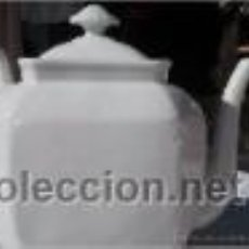 Antigüedades: TETERA CAFETERA BLANCA SELLADA. Lote 40338629