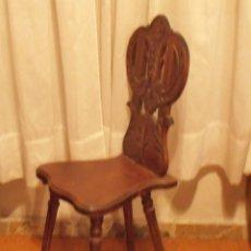 Antigüedades: SILLA DE RESPALDO TALLADO. Lote 40342269