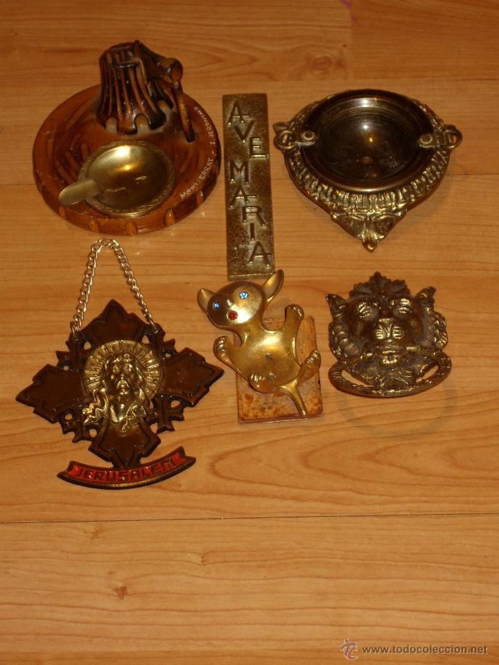 Antigüedades: ANTIGUAS FIGURAS,PIEZAS EN BRONCE,GATO PALMATORIA, BRASERO , LEON TIRADOR , CENICERO,JESUS,AVE MARIA - Foto 2 - 39553143