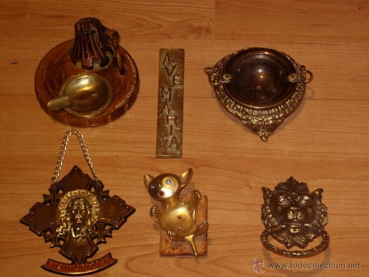 Antigüedades: ANTIGUAS FIGURAS,PIEZAS EN BRONCE,GATO PALMATORIA, BRASERO , LEON TIRADOR , CENICERO,JESUS,AVE MARIA - Foto 4 - 39553143