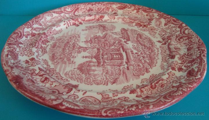 PLATO PICKMAN S.A. LA CARTUJA DE SEVILLA SERIE ROSA 202 (Antigüedades - Porcelanas y Cerámicas - La Cartuja Pickman)