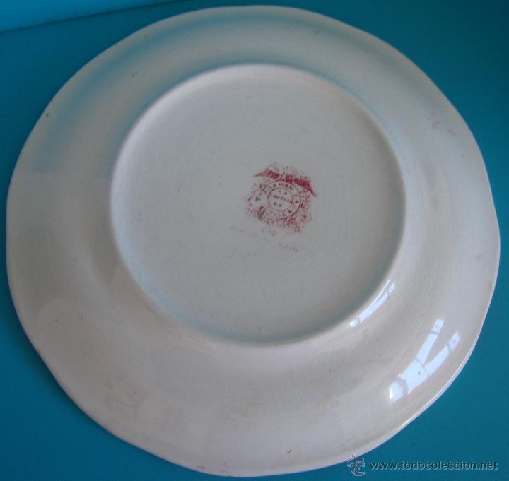 Antigüedades: PLATO PICKMAN S.A. LA CARTUJA DE SEVILLA SERIE ROSA 202 - Foto 2 - 62469835