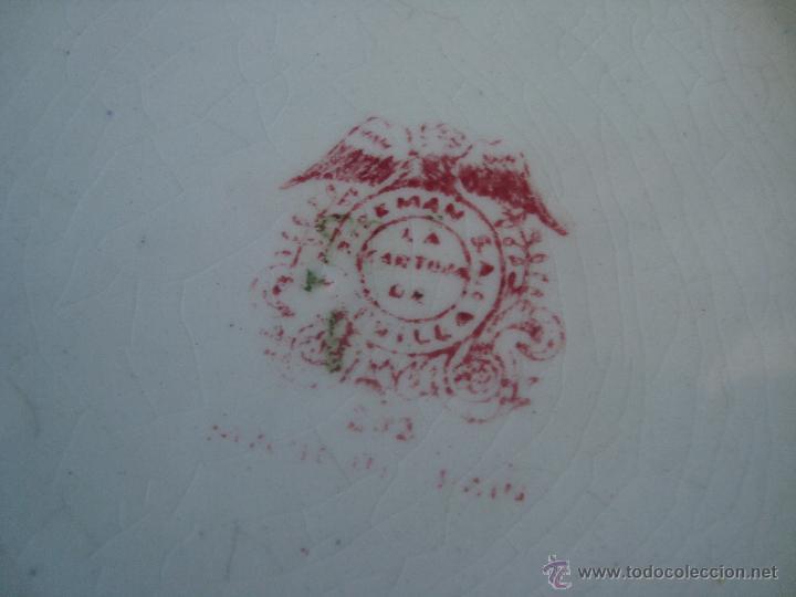 Antigüedades: PLATO PICKMAN S.A. LA CARTUJA DE SEVILLA SERIE ROSA 202 - Foto 3 - 62469835
