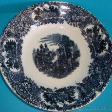 Antigüedades: PLATO PICKMAN S.A. LA CARTUJA DE SEVILLA SERIE VISTAS. Lote 54223820