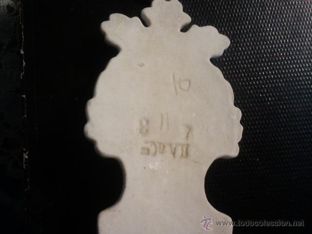 Antigüedades: BENDITERA DE CERÁMICA BLANCA - Foto 4 - 40363394