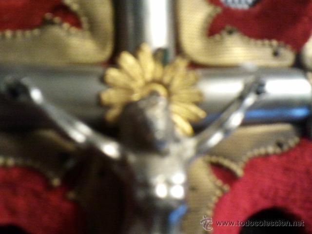 Antigüedades: Cruz de pared de 24 cms. con benditera. - Foto 4 - 40364169