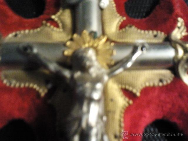 Antigüedades: Cruz de pared de 24 cms. con benditera. - Foto 5 - 40364169