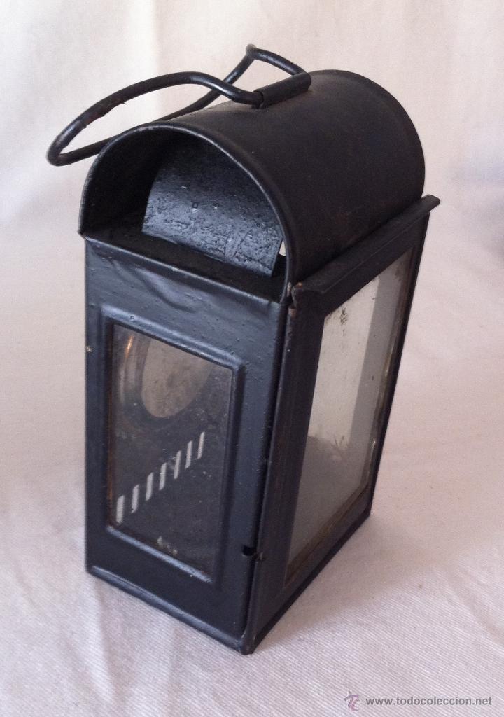 Antigüedades: Antiguo farol o linterna de vela - Foto 2 - 40370094