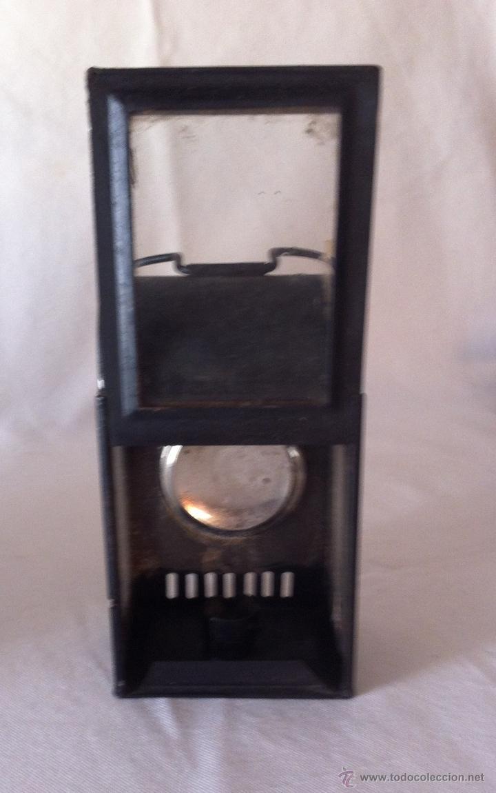 Antigüedades: Antiguo farol o linterna de vela - Foto 3 - 40370094