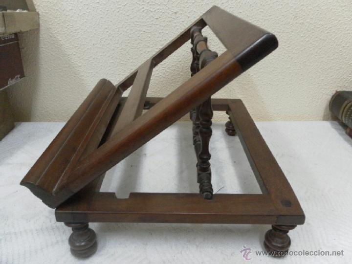 Antigüedades: Atril. Madera de Caoba. Siglo XIX. - Foto 2 - 40401066