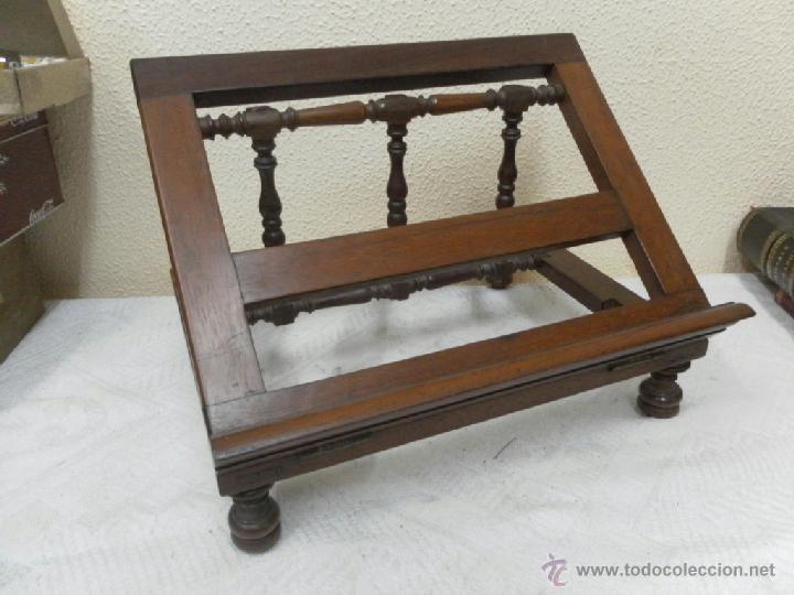 Antigüedades: Atril. Madera de Caoba. Siglo XIX. - Foto 5 - 40401066