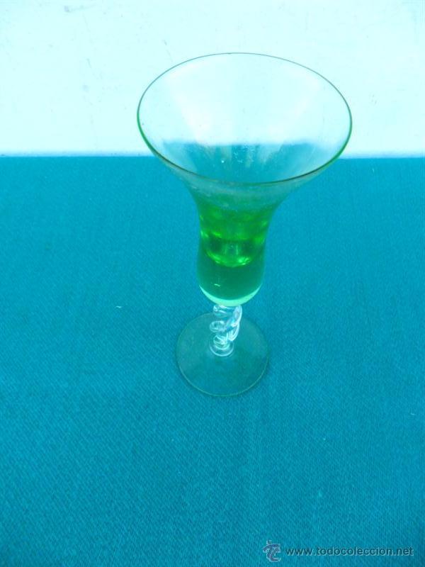 Antigüedades: copa verde - Foto 2 - 40405208