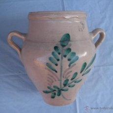 Antigüedades: CERÁMICA POPULAR. ANTIGUA ORZA DE LUCENA, CÓRDOBA. Lote 40408929