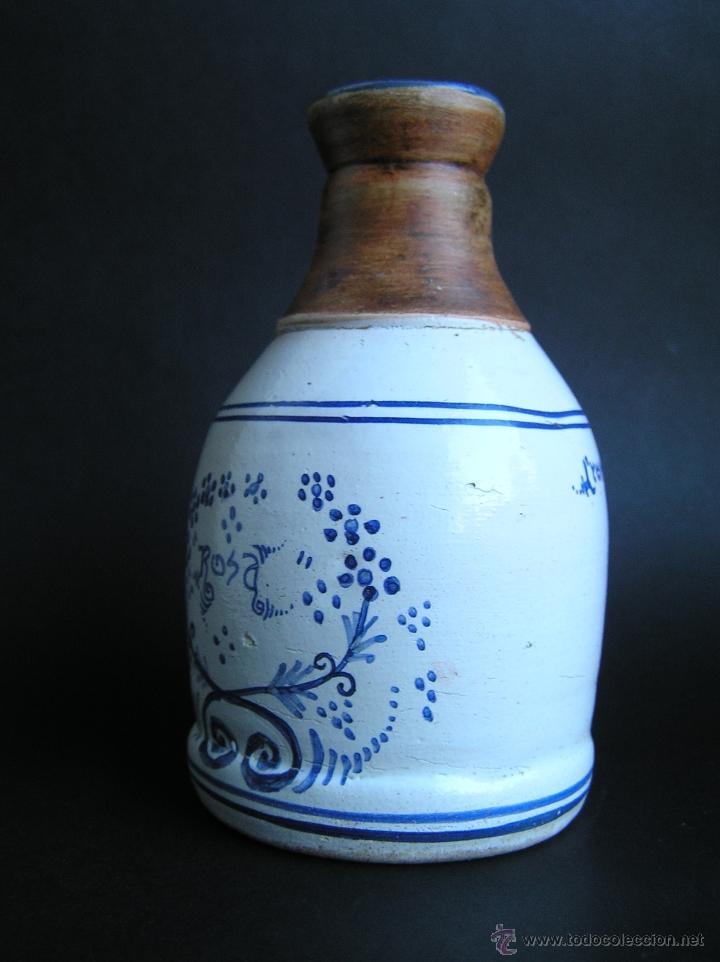 Antigüedades: BOTELLA CERÁMICA . ROSA LYON 1879 . Medicina siglo XIX. - Foto 2 - 40411750