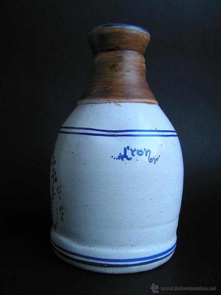 Antigüedades: BOTELLA CERÁMICA . ROSA LYON 1879 . Medicina siglo XIX. - Foto 3 - 40411750