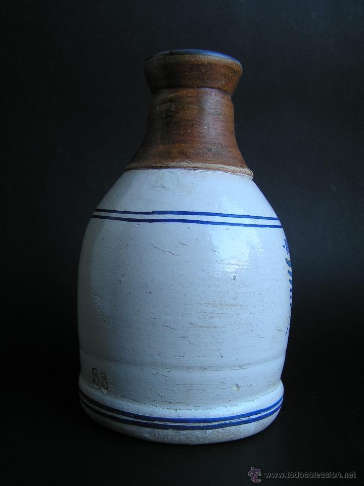Antigüedades: BOTELLA CERÁMICA . ROSA LYON 1879 . Medicina siglo XIX. - Foto 5 - 40411750