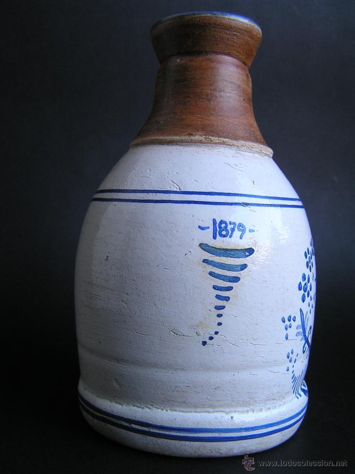 Antigüedades: BOTELLA CERÁMICA . ROSA LYON 1879 . Medicina siglo XIX. - Foto 6 - 40411750