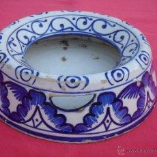 Antigüedades: ESCUPIDERA ANTIGUA -FINALES S. XIX- EN CERÁMICA DE FAJALAUZA DE LA SERIE AZUL. DIÁMETRO BASE.-24 CMS. Lote 40413222