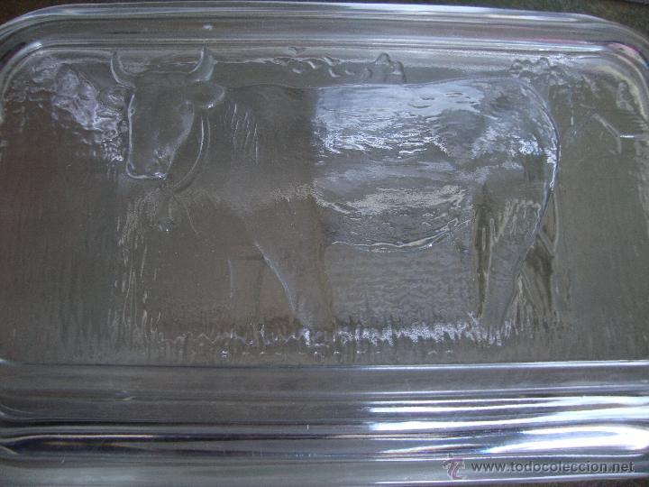 Antigüedades: CAJITA CRISTAL CON TAPA GRABADA VACA ARCOROC FRANCE - Foto 3 - 40412287