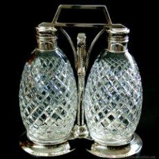Antiquités: SET DE LICORERAS - FABRICANTE TG HAWKES - NY - EL MEJOR FABRICANTE DE CRISTAL - AÑO 1901. Lote 40425613