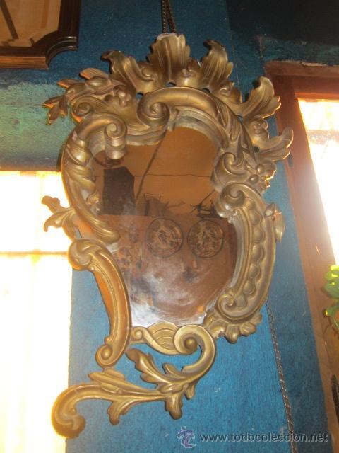 CORNUCOPIA DORADA AÑOS 20 EN ESCAYOLA. (Antigüedades - Muebles Antiguos - Cornucopias Antiguas)