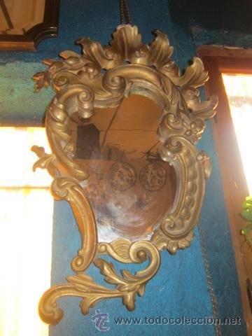 Antigüedades: Cornucopia dorada años 20 en escayola. - Foto 2 - 27094541