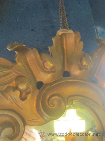 Antigüedades: Cornucopia dorada años 20 en escayola. - Foto 5 - 27094541