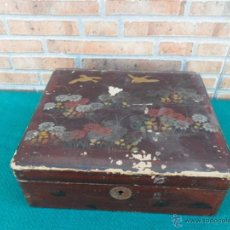 Antigüedades: CAJA ORIENTAL LACADA. Lote 40434310