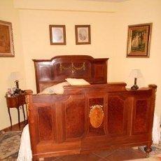 Antigüedades: CAMA CAOBA ESPECTACULAR. Lote 40435765