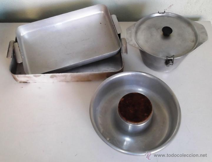 Lote de moldes de cocina de aluminio antiguos comprar for Utensilios de cocina de aluminio