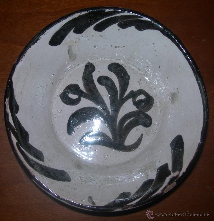 OFERTA CUENCO MUY ANTIGUO DE CERAMICA DE GRANADA - DECORACIÓN VEGETAL (Antigüedades - Porcelanas y Cerámicas - Otras)
