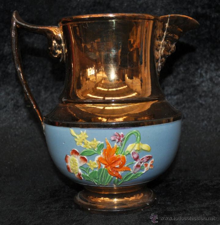 Antigüedades: ANTIGUA JARRA DE REFLEJOS (BRISTOL) EN . FINALES SIGLO XIX - Foto 2 - 40451540