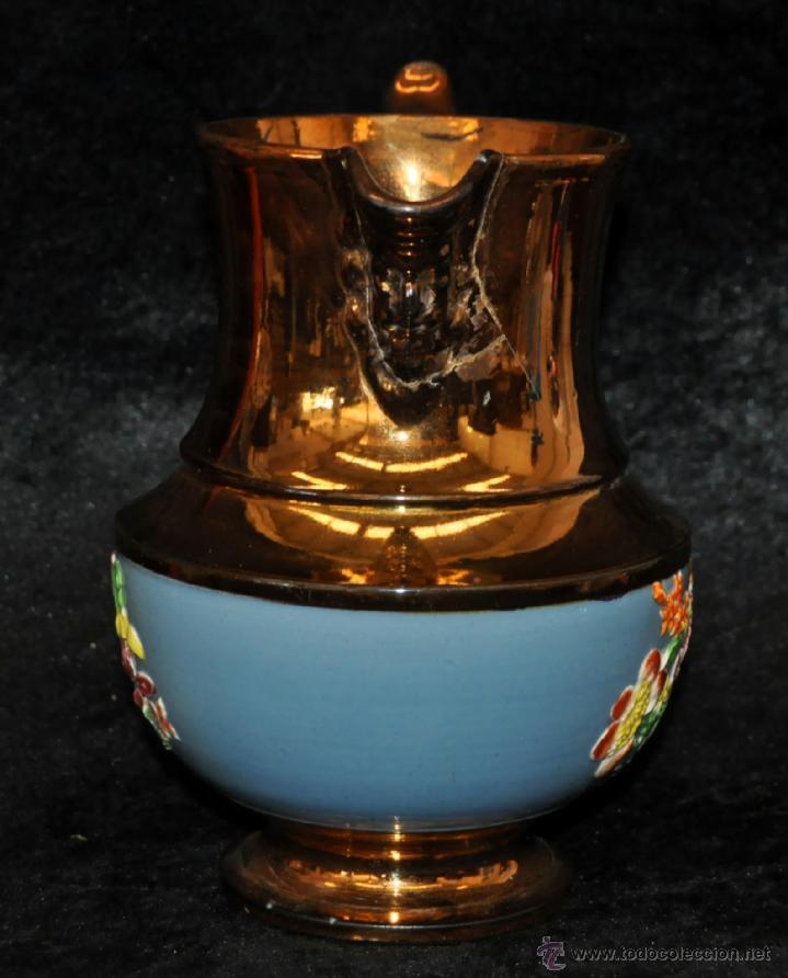 Antigüedades: ANTIGUA JARRA DE REFLEJOS (BRISTOL) EN . FINALES SIGLO XIX - Foto 3 - 40451540