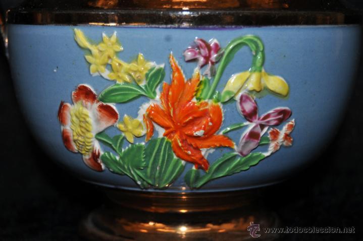 Antigüedades: ANTIGUA JARRA DE REFLEJOS (BRISTOL) EN . FINALES SIGLO XIX - Foto 4 - 40451540
