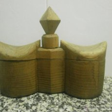 Antigüedades: ANTIGUO SALERO ESPECIAS MADERA MACIZA. Lote 40473477